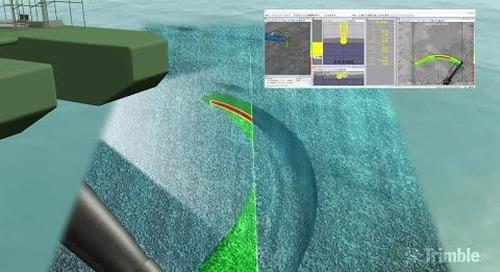 Trimble Marine Construction software - Cutter Suction Dredge