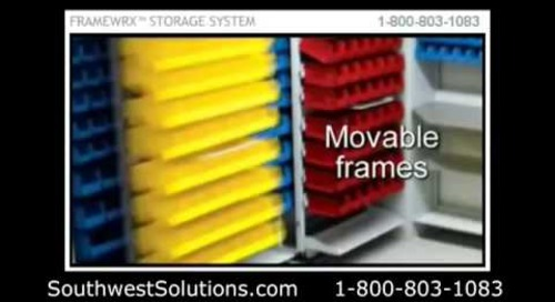 Movable High Density Sliding Bin Shelving for Healthcare Supply Storage
