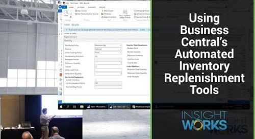 Using Business Central's Automated Inventory Replenishment Tools