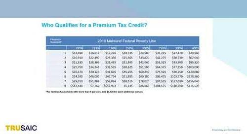 Who qualifies for a Premium Tax Credit - Webinar - Trusaic
