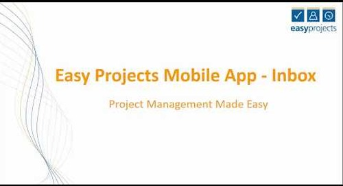 Easy Projects Mobile Update: Notification Inbox