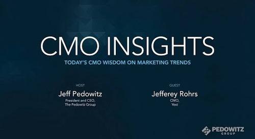 CMO Insights: Jeffrey Rohrs, CMO of Yext