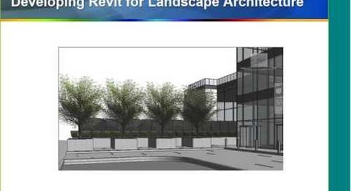Revit for Landscape Architecture  Webcast