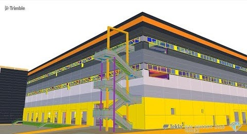 Tekla France BIM Awards 2018 - GA SMART BUILDING : Plateforme Logistrielle