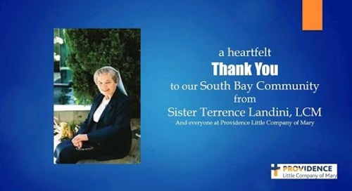 Thank You to our South Bay Community from Sister Terrence Landini, LCM
