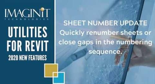 Utilities for Revit: Sheet Number Update