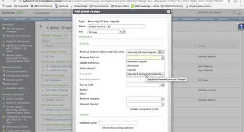 Blackbaud CRM™ Add-On: Recurring Gift Auto Upgrade