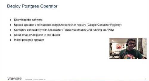 Tanzu SQL Postgres: Kubernetes Operator Installation