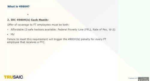 What is the IRC 4980H(b) penalty and how is it triggered - Trusaic Webinar