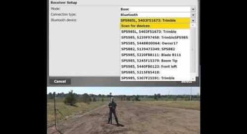 Setting up a SPS585 using Trimble's innovative BaseAnywhere feature in SCS900