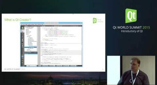 New- QtWS15 Introduction Qt Creator Qt Technology Strategy, Tobias Hunger