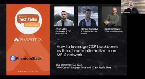 TechTalk | How to leverage CSP backbones as the ultimate alternative to an MPLS network