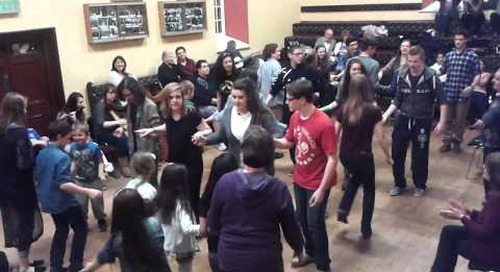 Saratoga Springs HS Fiddle Club Tour of Ireland - Dancing with Comhaltas