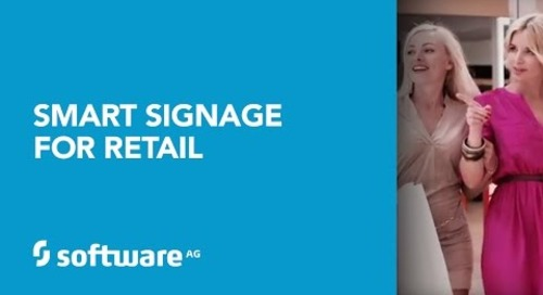 Software AG's Smart Signage for Retail