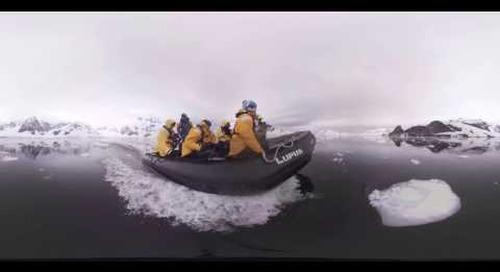 Antarctica: Zodiac Cruising the 7th Continent (360° VR)