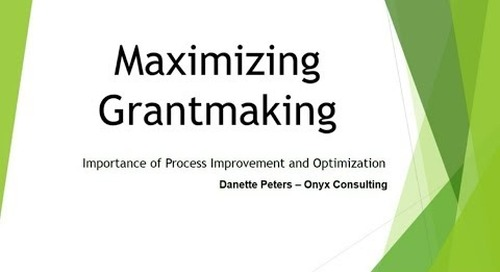 Blackbaud Webinar: Maximizing Grantmaking