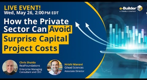 How the Private Sector Can Avoid Surprise Capital Project Costs