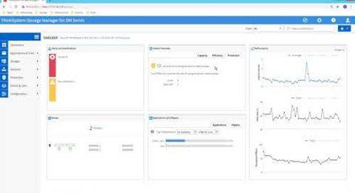 Lenovo ThinkSystem Storage Manager for DM Series Dashboard