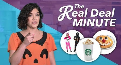 The Real Deal Minute: Fortnite Costumes, PSLs and Halloween Deals