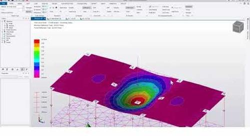 Tekla Structural Designer 2020 - Transfer slab and meshing