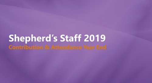 Shepherd's Staff 2019: Contributions & Attendance Year End Process