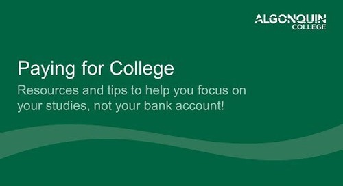 Webinar - Paying for College