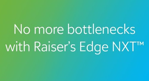 COVID-19: No More Bottlenecks with Raiser's Edge NXT