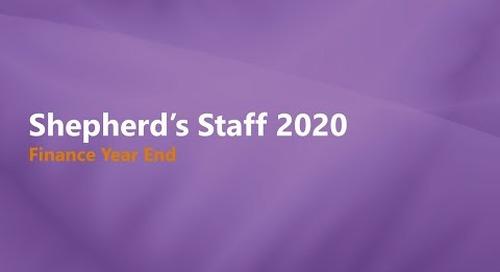 Shepherd's Staff 2019: Finance Year End Process