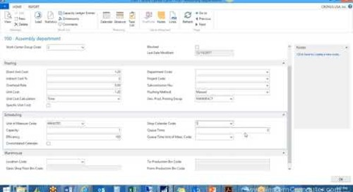 How to Setup Manufacturing in Microsoft Dynamics NAV