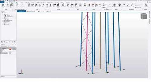 Tekla Structural Designer 2020 - Modelling telecom towers