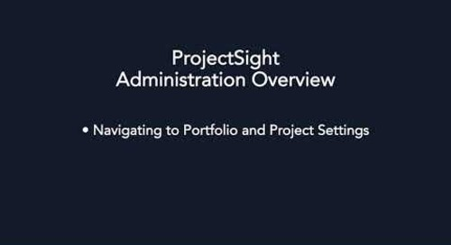 ProjectSight - Administration