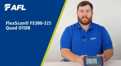 FlexScan® FS300 Quad OTDRs with SmartAuto® & LinkMap® Overview