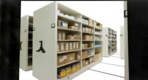 Record center file storage system with file tracking software and scanning using barcodes.mp4