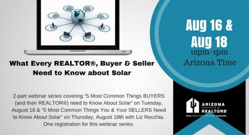 What Every Seller Needs to Know About Solar 8.18.2016