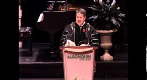 Fall Convocation 2013 - Dr. Kent MacDonald