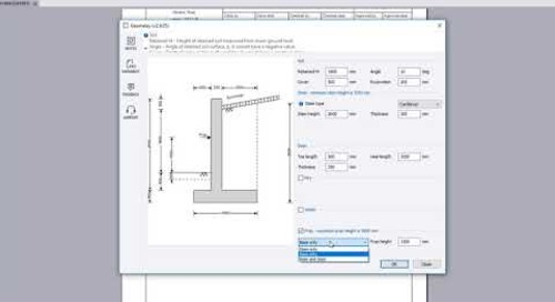 Retaining Wall Analysis and Design in Tekla Tedds