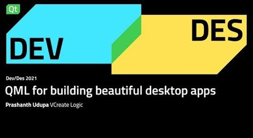 QML for building beautiful desktop apps – Dev/Des 2021