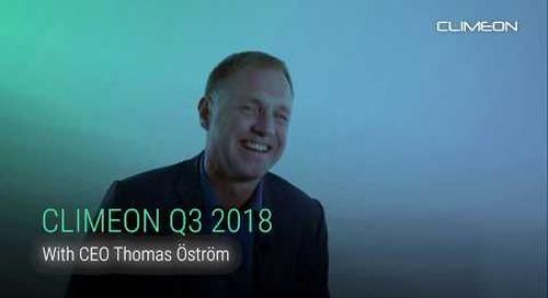 Thomas Öström on Climeon's Q3 report 2018