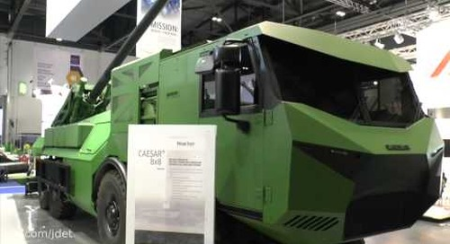 DSEI 2015 Nexter's new Caesar 8x8 self-propelled artillery system unveiled for the first time