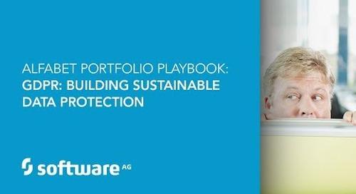 Alfabet Portfolio Playbook: GDPR: Building sustainable data protection