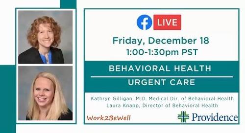 Behavioral Health Urgent Care