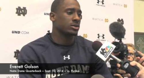 Notre Dame QB Everett Golson - 9/10/14 - Purdue