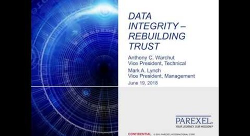 Webinar: Data Integrity - Rebuilding Trust
