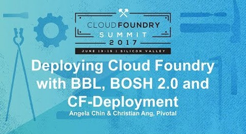 Deploying Cloud Foundry with BBL, BOSH 2.0 and CF-Deployment