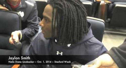 Notre Dame LB Jaylon Smith - 10/1/14 - Stanford Week