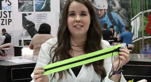 Crystal Ziegler introduces YKK's AQUAGUARD® and AQUASEAL® Zippers at Outdoor Retailer Show