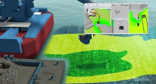 Trimble Marine Construction Software - Backhoe Excavator Dredging