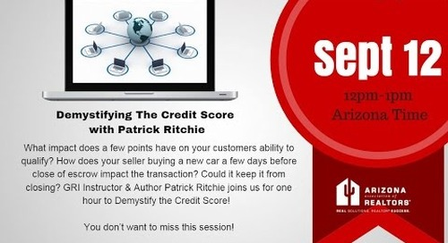 Demystifying The Credit Score 9.12.2016