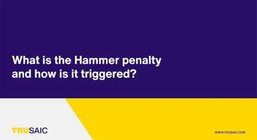 What is the Hammer penalty and how is it triggered? - Trusaic Webinar