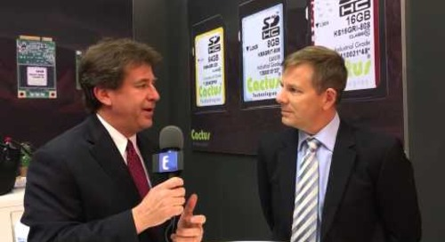 Embedded World 2016 Video: Cactus Technologies makes sense of industrial-grade flash